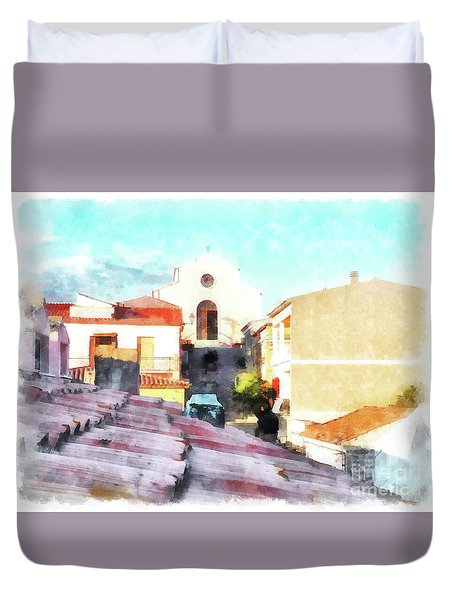 Arzachenaroof And Church Duvet Cover