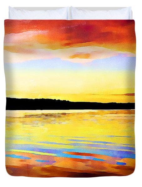 As Above So Below - Digital Paint Duvet Cover
