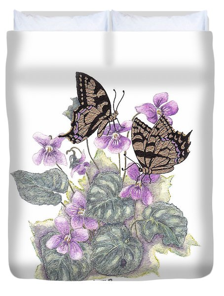 As Close To The Flowers Duvet Cover by Stanza Widen