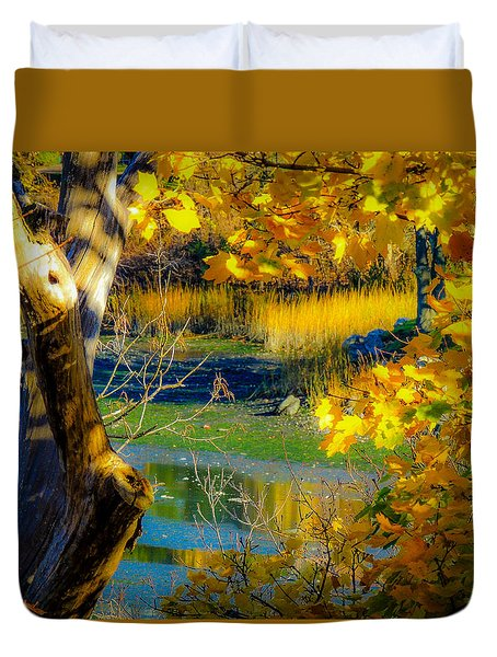 As Fall Leaves Duvet Cover