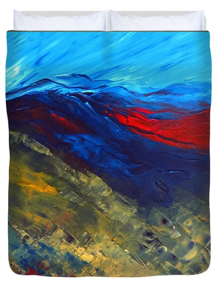 As Far As The Eye Can See Duvet Cover by Elizabeth Kendall
