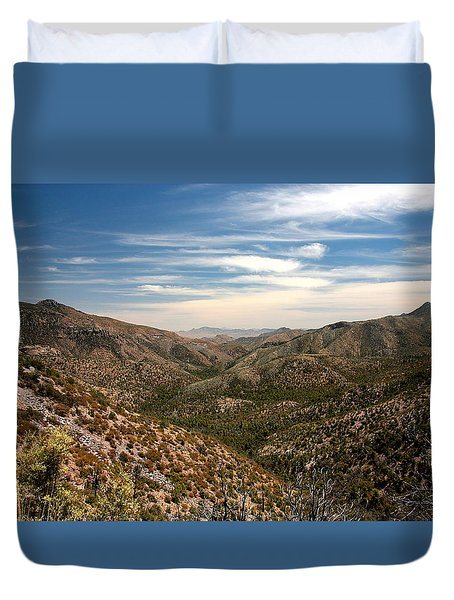 Duvet Cover featuring the photograph As Far As The Eye Can See by Joe Kozlowski
