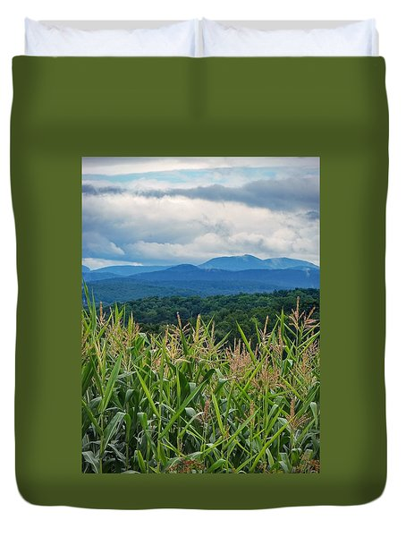 Duvet Cover featuring the photograph As High As An Elephants Eye by Kendall McKernon