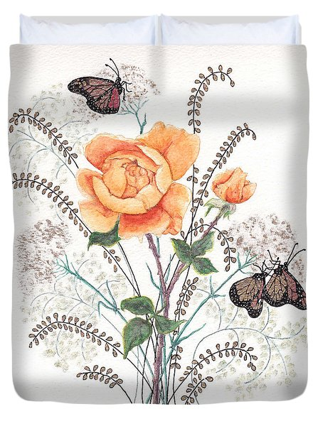As I Ride The Butterfly Duvet Cover by Stanza Widen