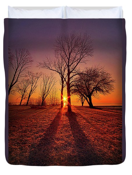 Duvet Cover featuring the photograph As Sure As The Sun Will Rise by Phil Koch