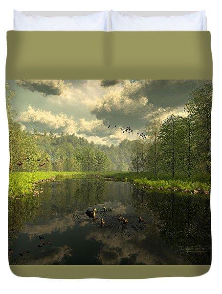 As The River Flows Duvet Cover