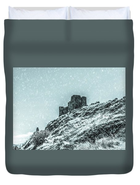 As The Snow Falls Duvet Cover by Andrea Mazzocchetti