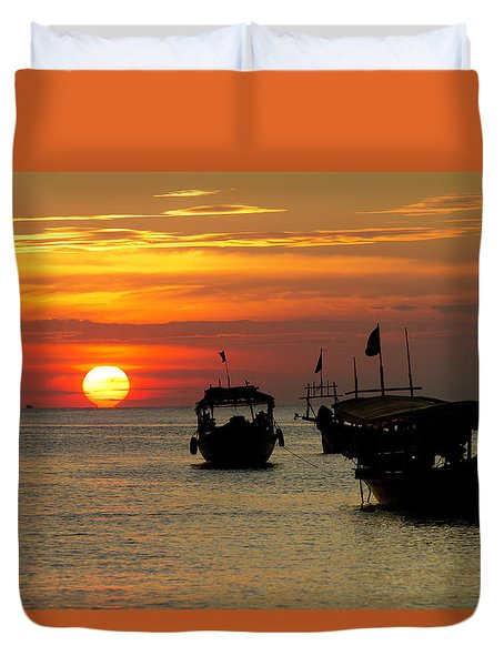 As The Sun Meets The Sea Duvet Cover