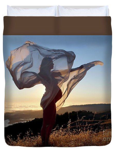 As The Wind Carries The Flower Of A New Life Duvet Cover