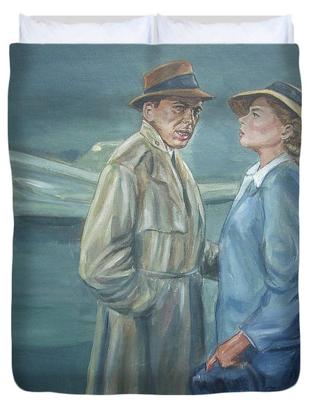 Duvet Cover featuring the painting As Time Goes By by Bryan Bustard