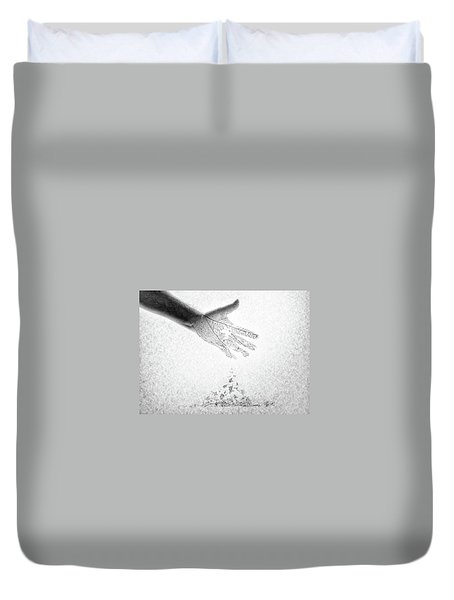 Duvet Cover featuring the photograph As You Once Were, So You Will Soon Be by Mark Fuller