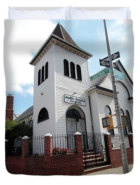 Asamblea Evangelica Evergreen Church Duvet Cover