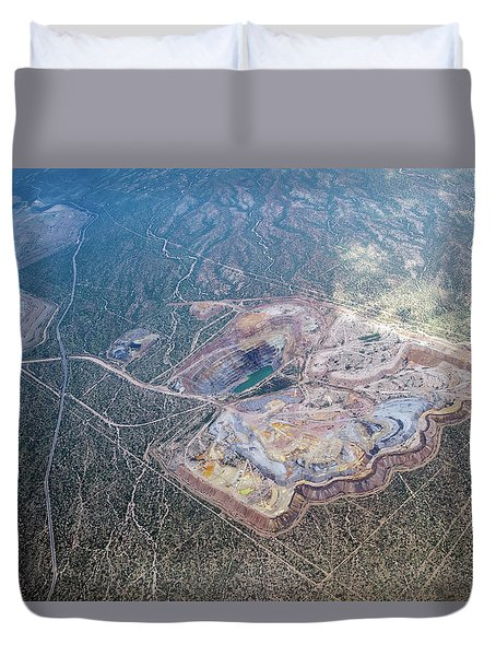 Asarco Mission Mine Duvet Cover