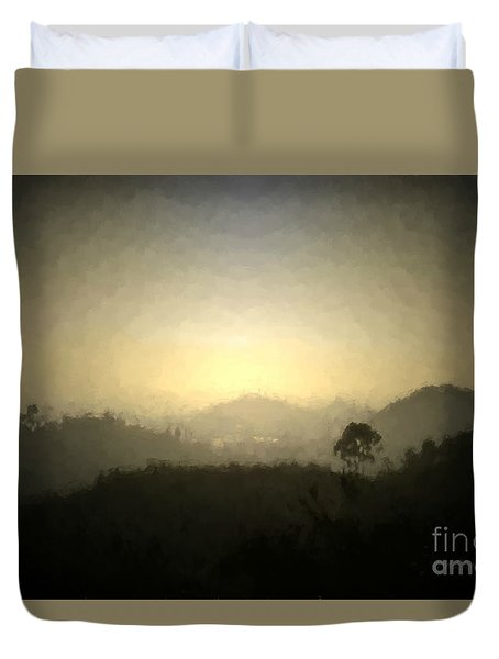 Ascend The Hill Of The Lord - Digital Paint Effect Duvet Cover