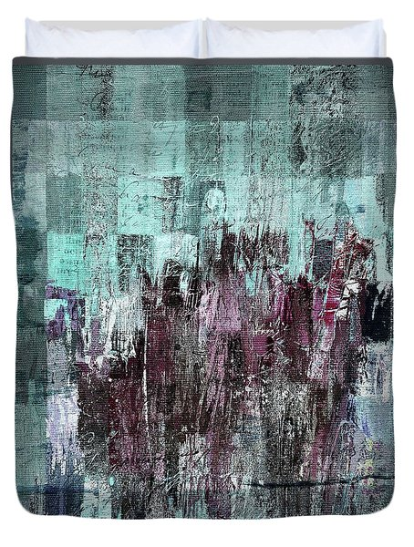 Duvet Cover featuring the digital art Ascension - C03xt-161at2c by Variance Collections