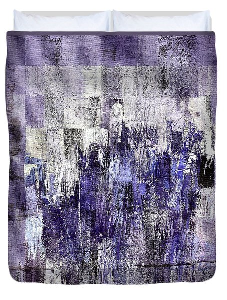 Duvet Cover featuring the painting Ascension - C03xt-166at2c by Variance Collections