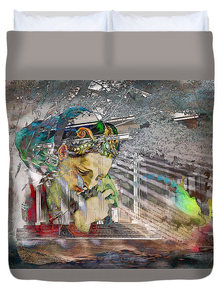 Duvet Cover featuring the photograph Ascension by Richard Ricci