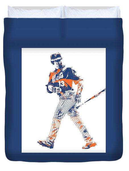 Asdrubal Cabrera New York Mets Pixel Art 1 Duvet Cover