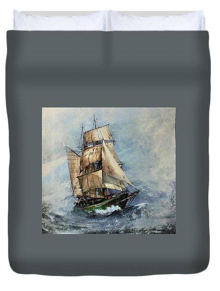 F 827 Asgard Storm Off Galway. Duvet Cover