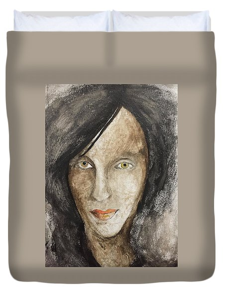 Duvet Cover featuring the mixed media Ash by Steve  Hester