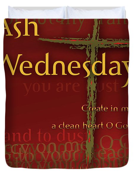 Ash Wednesday Duvet Cover