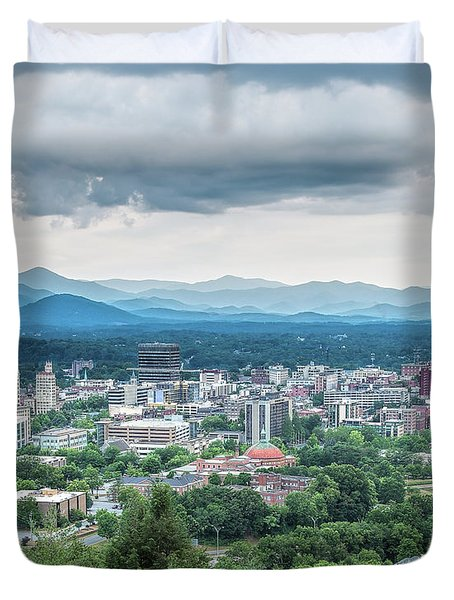Asheville Afternoon Cropped Duvet Cover