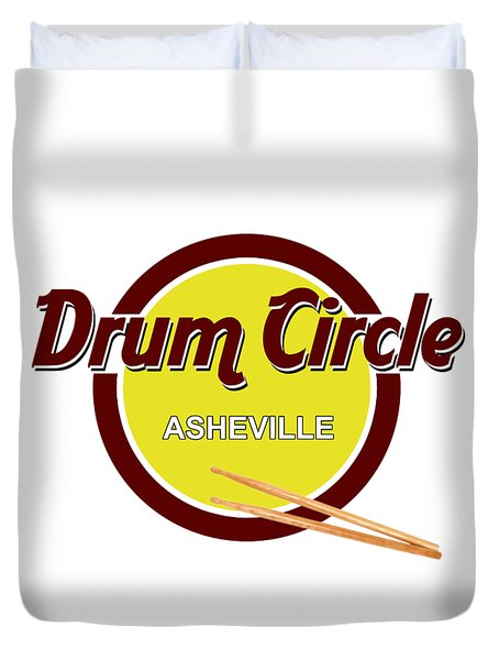 Asheville Drum Circle Logo Duvet Cover