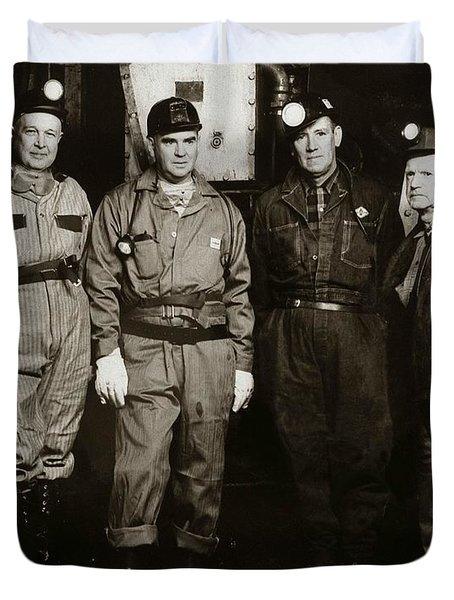 Ashley Pa  Glen Alden Coal Co  Huber Coal Breaker 1962 Duvet Cover