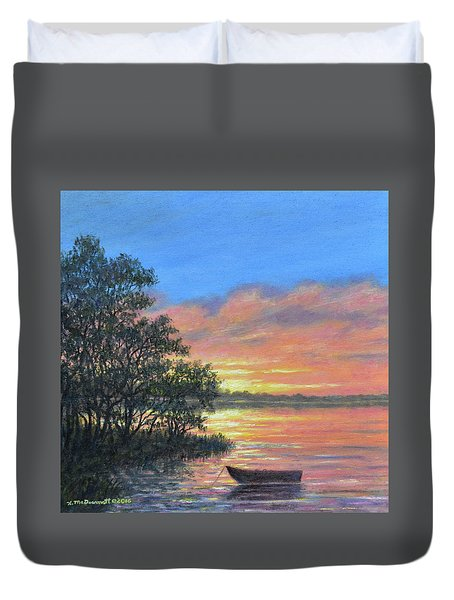 Ashore At Dusk # 3 Duvet Cover by Kathleen McDermott