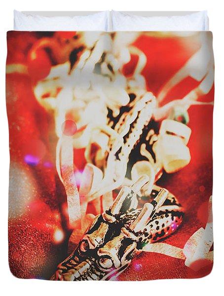 Asian Dragon Festival Duvet Cover