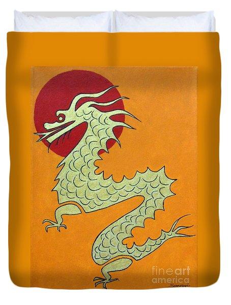 Asian Dragon Icon No. 1 Duvet Cover