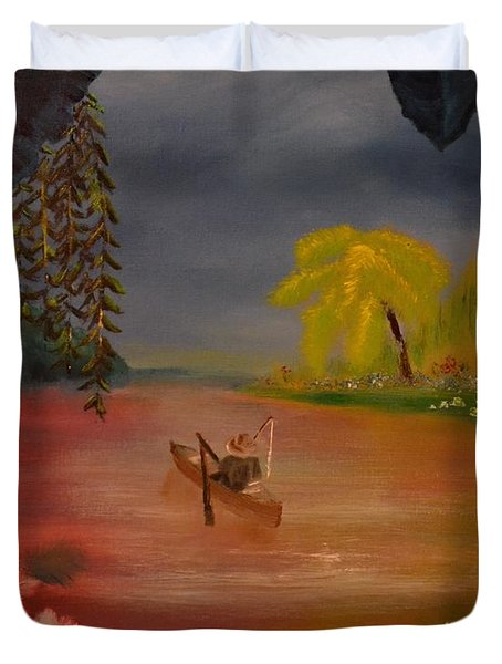 Asian Lillies Duvet Cover