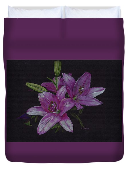Asian Lillies Duvet Cover