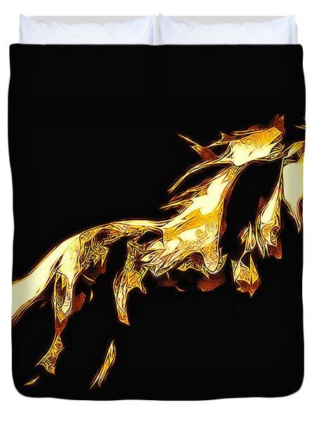 Asian Stallion Duvet Cover