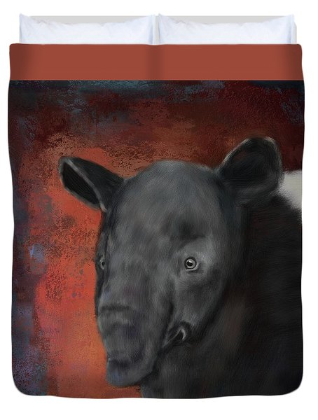 Asian Tapir Duvet Cover