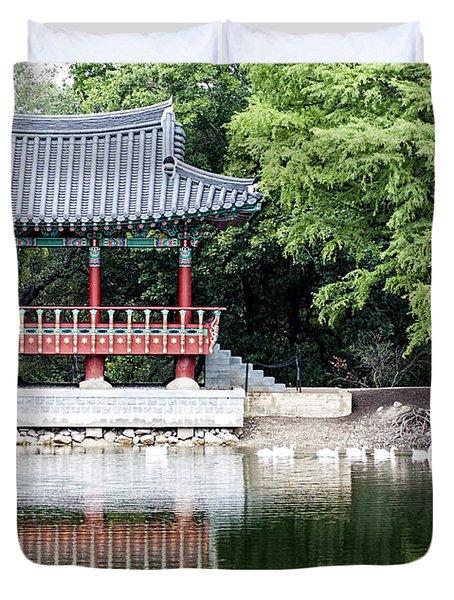 Asian Theater Duvet Cover
