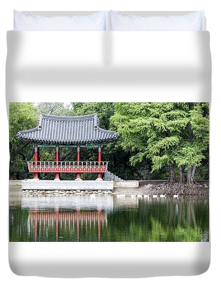 Asian Theater Duvet Cover