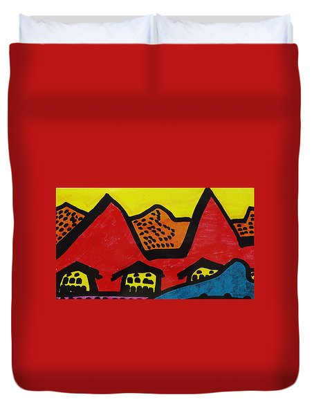 Asian Village  Duvet Cover
