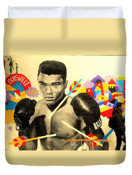 Asian Woman By Mohamed Ali In Brooklyn New York Duvet Cover