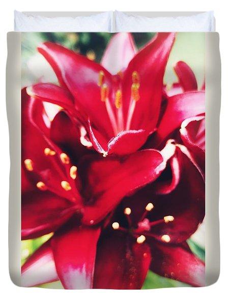 Asiatic Lilies Duvet Cover