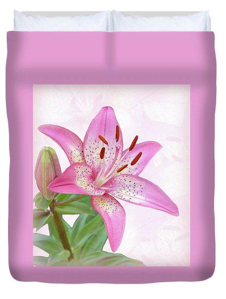 Asiatic Lily Trogon Duvet Cover