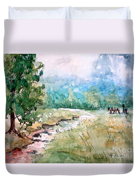 Aska Farm Creek Duvet Cover
