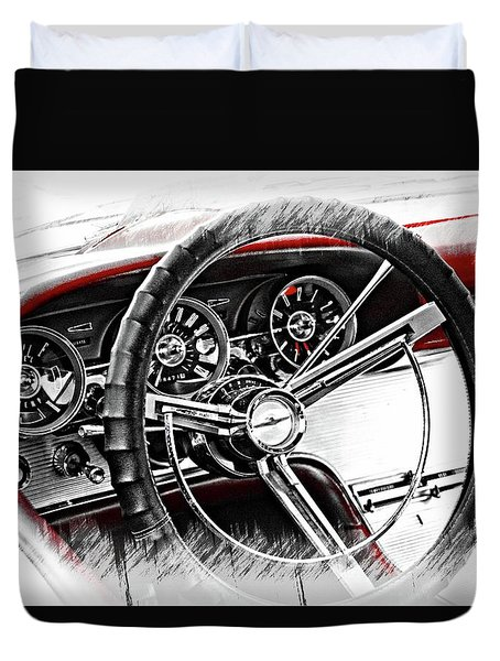 Asleep At The Wheel Duvet Cover