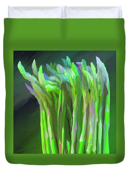 Asparagus Study 01 Duvet Cover by Wally Hampton