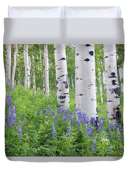 Aspen And Lupine Duvet Cover