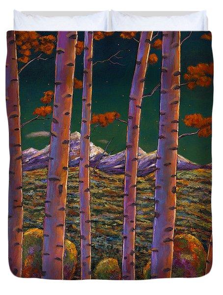 Aspen At Night Duvet Cover