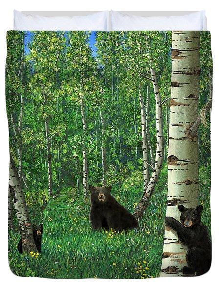 Aspen Bear Nursery Duvet Cover