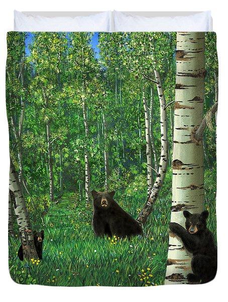 Aspen Bear Nursery Duvet Cover by Stanza Widen
