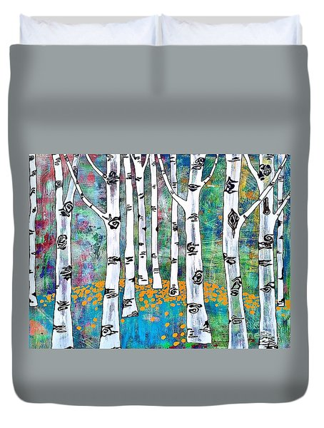 Aspen Bright Duvet Cover by Amy Sorrell
