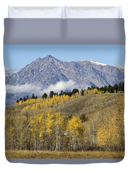 Aspen Colours Duvet Cover by Shirley Mitchell